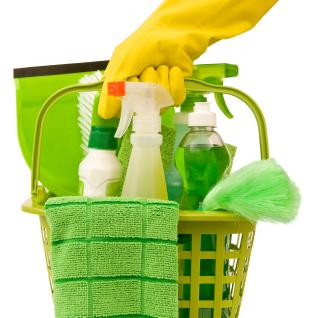 Organic cleaning supplies ensure no unnecessary chemicals in your apartment